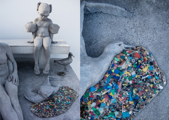 icro plastics were collected from coastlines in Lanzarote and integrated into the work