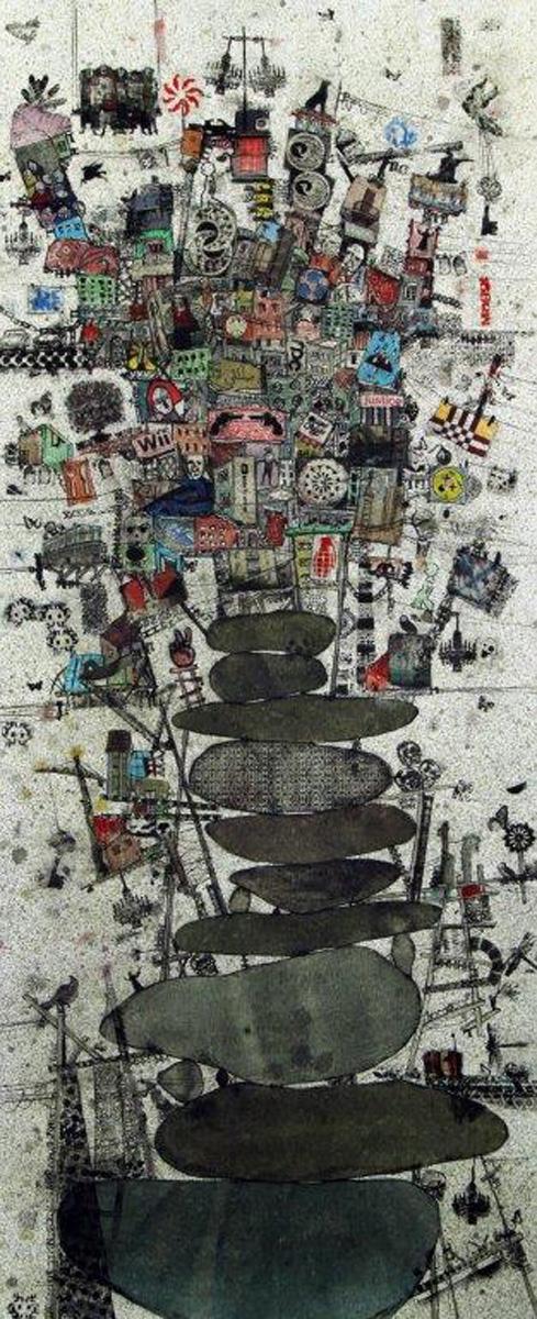 'Ricochets #2' by Zena Assi